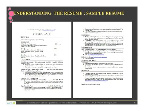 Preparation Of Resume For Freshers by Resume Writing For Students And Freshers