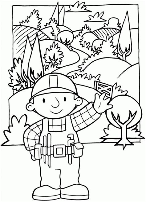 Free Printable Bob The Builder Coloring Pages For Kids Bob The Builder Coloring Pages To Print
