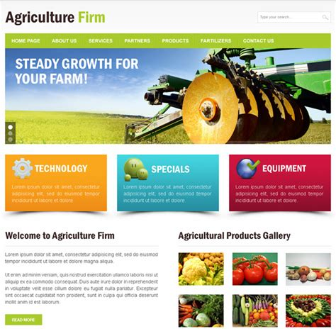 agriculture themes html agriculture html website templates to create website for
