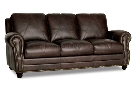 classic sofa set solomon sofa loveseat set in brown full italian leather