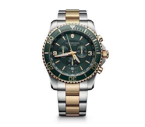 Swiss Army Chronograph 2186 Gold Brown victorinox maverick chronograph in green 43 mm 241693