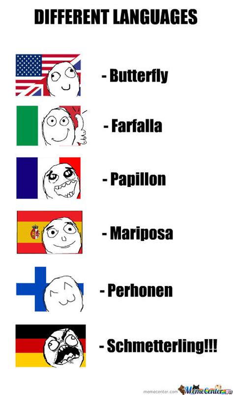 Different Languages Meme - different languages by haloskaa meme center