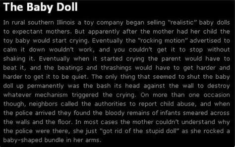 the doll s house short story creepypasta picture stories 2 baby doll horror creepy