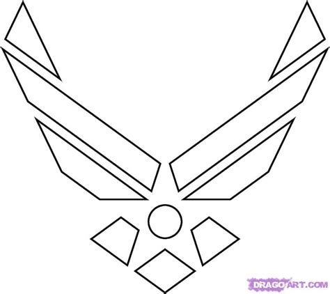 how to draw the air force symbol step by step symbols