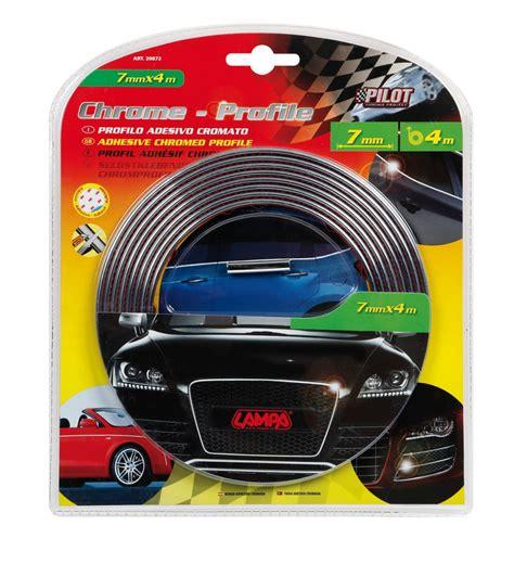 Fahrzeug Aufkleber Tuning by Pilot Fahrzeug Zierstreifen Chrom Optik 7 Mm X 4 M