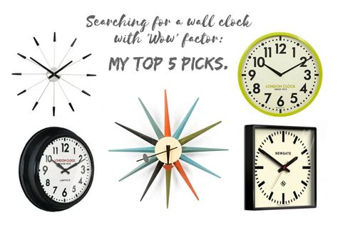 My Picks 5 by Searching For A Wall Clock With Wow Factor My Top 5 Picks