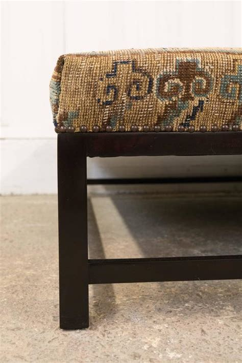 Rug Upholstered Ottoman by Crafted Ottoman Upholstered With Vintage