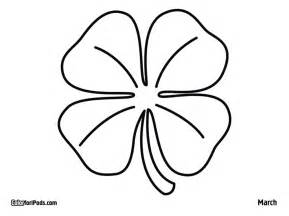 four leaf clover coloring pages four leaf clover template az coloring pages