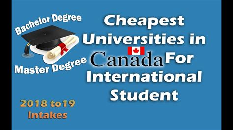 Cheap Mba Colleges In Canada For International Students by Cheapest Universities In Canada For International Students