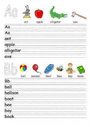 worksheets alphabet revision letters a l and