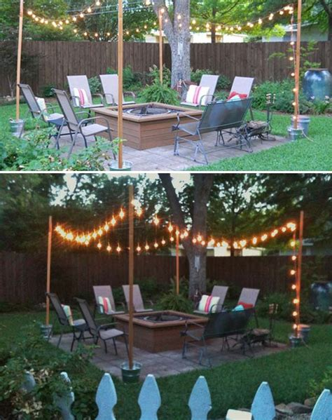 diy backyard patio ideas 15 diy backyard and patio lighting projects amazing diy