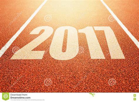 new year 2018 run 2017 bonnes 233 es concept courant de voie de sport d