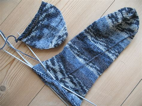 sock knitting file blue socks knitting in progress jpg