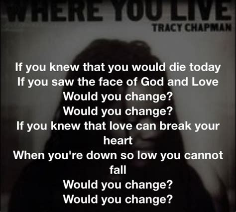 wedding song lyrics tracy chapman tracy chapman change if you never heard of this song