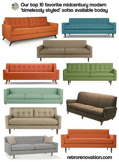 Mid Century Modern Style Sofa Kate S Top 10 Midcentury Modern Sofas Available Today Retro Renovation
