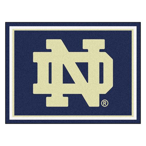 of notre dame nd logo area rug 8 x 10
