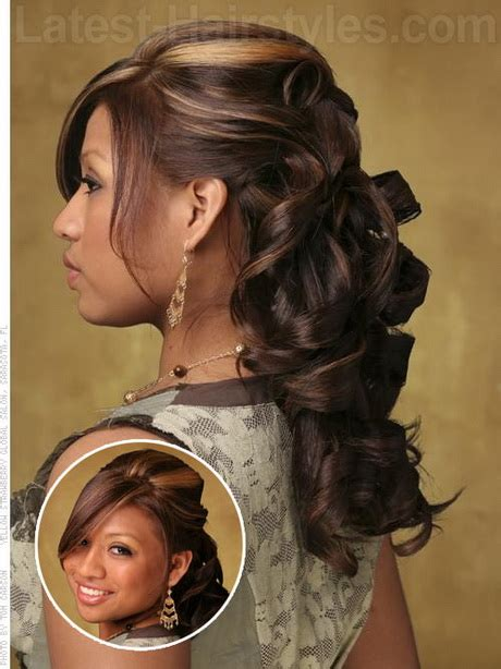 half up half down hairstyles with ribbon prom half up half down hairstyles