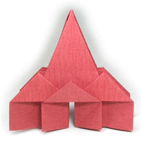 Religious Origami - how to make a new origami church page 1