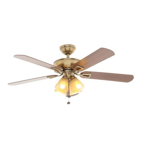 polished brass ceiling fans hton bay landmark plus 52 in polished brass ceiling