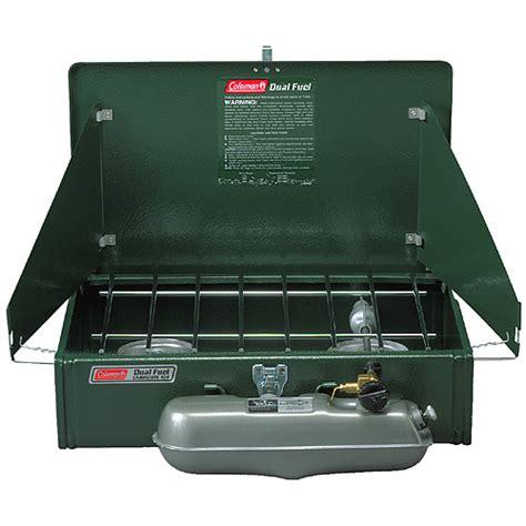 coleman outdoor compact coleman stove 2 burner standard compact dual fuel