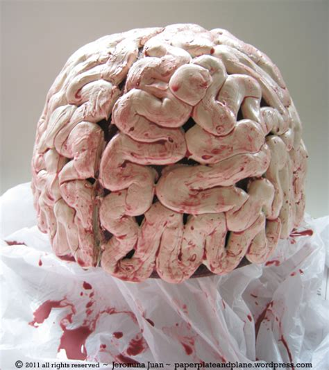 How To Make A Paper Mache Brain - gory brain cap paper plate and plane