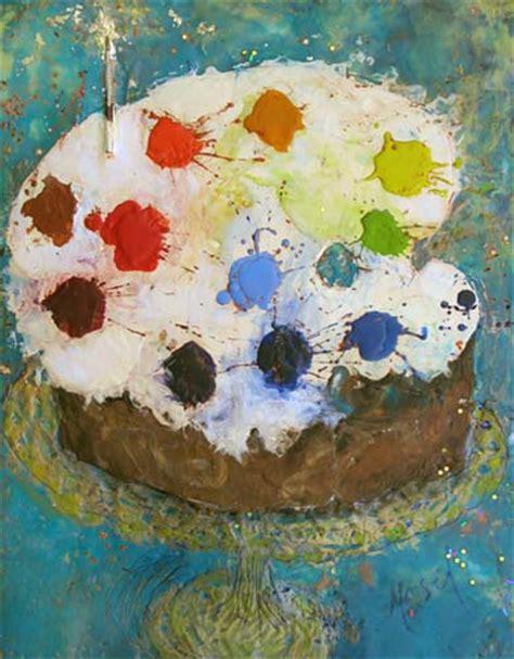 birthday painting palette cake m2 studio marjorie masel birthday cake