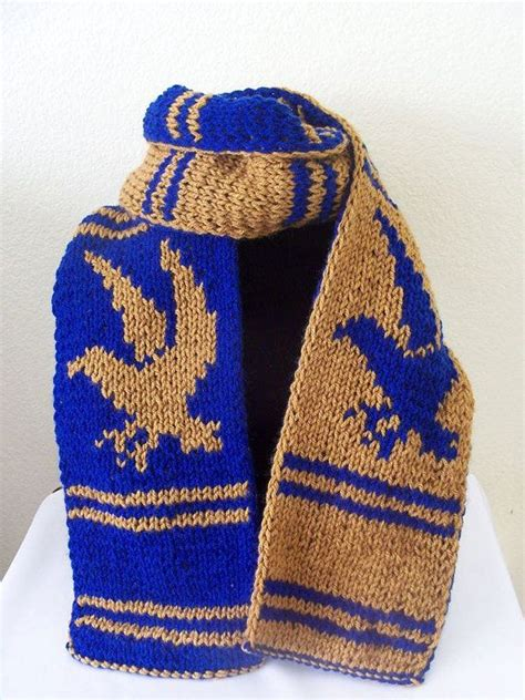knitting pattern hogwarts scarf harry potter ravenclaw inspired house scarf double knit