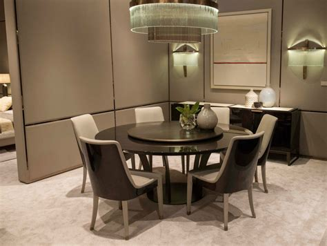 table with lazy susan table with lazy susan haussmann collection by hugues