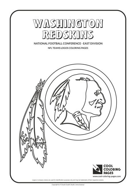 cool coloring pages washington redskins nfl american