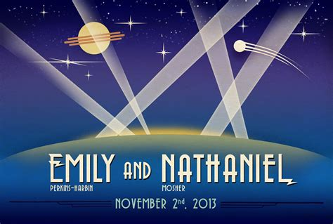 space decor deco space themed wedding rsvp and invitation