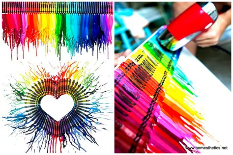 Unique Home Decor Items by Smart Diy Melted Crayon Art Project Adding Color To Any