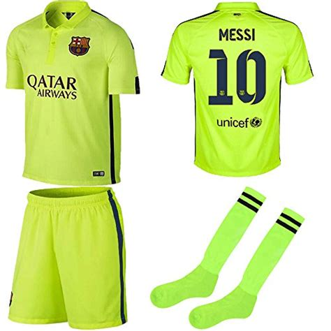 Jaket Hoodie Sweater Lionel Messi Abu barcelona jersey 2014 2015 fc barcelona third lime
