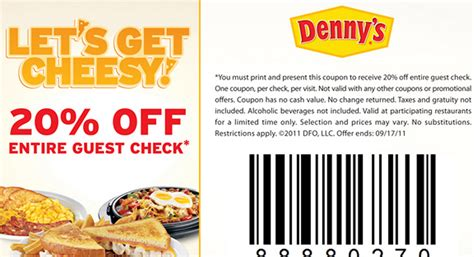Denny Gift Card Discount - dennys coupon fire it up grill