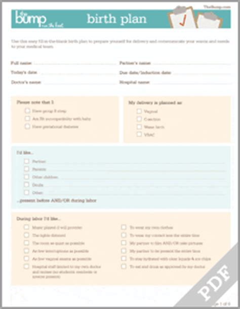 Tool Birth Plan Baby Birth Plan Template