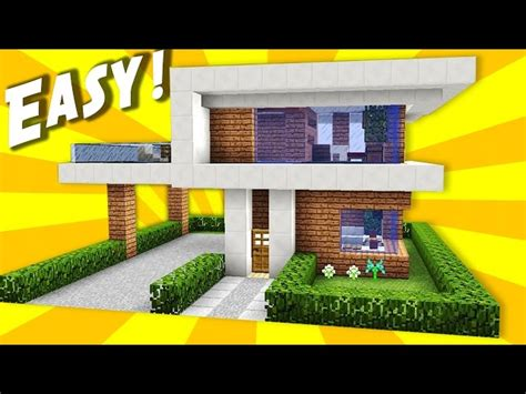 minecraft simple modern house tutorial minecraft simple