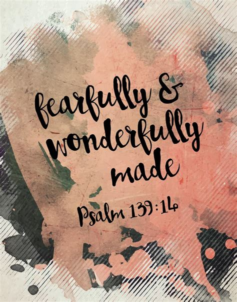 fearfully amp wonderfully made psalm 139 14