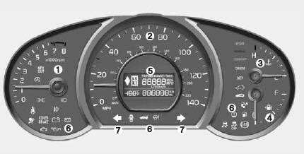 car maintenance manuals 2010 kia soul instrument cluster kia soul instrument cluster features of your vehicle kia soul 2014 2018 ps owner manual