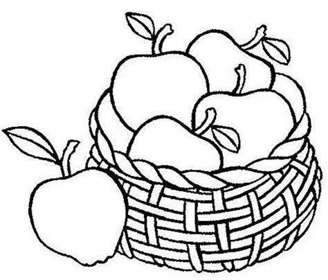 fruit basket coloring page coloring home