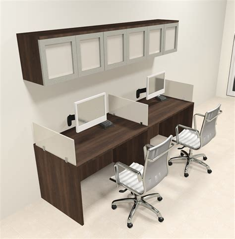 Two Person Modern Divider Office Workstation Desk Set Ch Two Person Office Desk