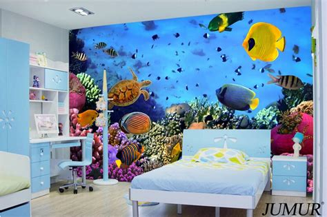 bedroom world free delivery code 2015 new arrival 3d ocean world wallpaper fish for kids