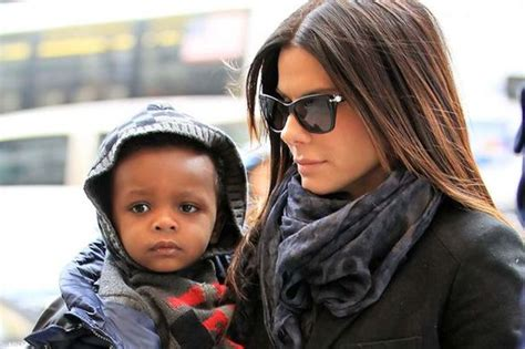 sandra bullock children sandra bullock s five year old son louis urged actress to