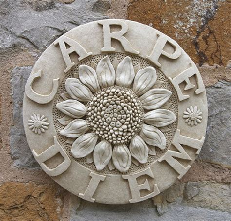 wall plaque carpe diem seize the day garden wall