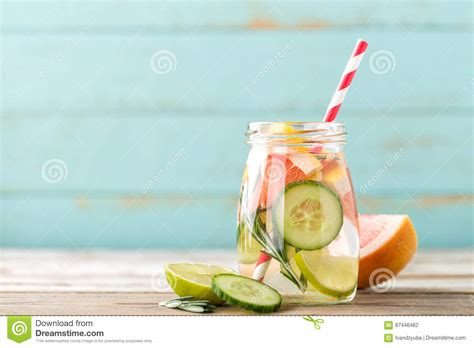 Grapefruit And Rosemary Detox by Infused Detox Water With Lime Grapefruit Cucumber And