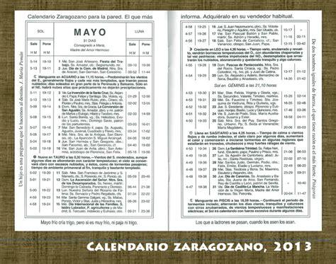 Calendario Zaragozano Mayo 2015 Territorio Calendario Zaragozano Mayo 2013