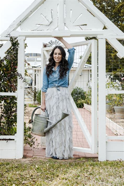 chip and joanna gaines garden pictures of joanna gaines in magazine popsugar home