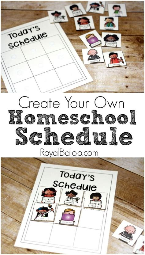 creating a daily homeschool schedule for multiple young children