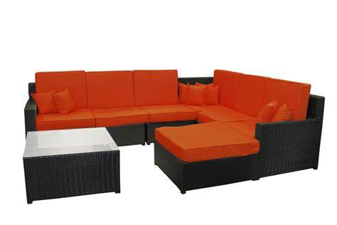 Wicker Sectional Outdoor Furniture by 8 Black Resin Wicker Outdoor Furniture Sectional