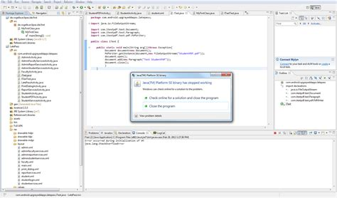 android studio java tutorial pdf eclipse generating pdf in java through android java