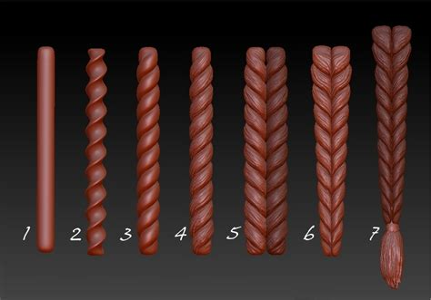 zbrush armature tutorial clay based method for braided hair