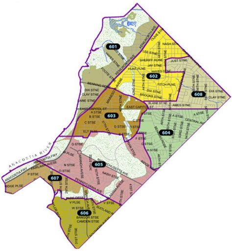 washington dc precinct map welcome to the sixth district mpdc